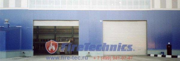 Рулонные ворота из алюминиевого профиля AL-120